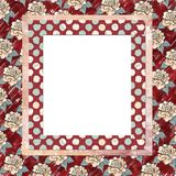 Layered floral frame background Royalty Free Stock Image