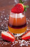 Layered fruit drink Royalty Free Stock Image