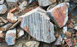 Layered Granite in the Wallowa Mountains, NE Oregon, USA Royalty Free Stock Photo