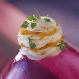 Layered haddock and turnips Royalty Free Stock Photos