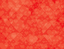 Layered heart background. Transparent layered heart background for valentine's day vector illustration