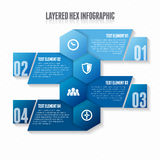 Layered Hex Infographic Royalty Free Stock Images
