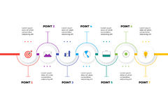 Layered Horizontal Infographic Timeline. Stock Photo