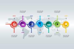 Layered Horizontal Infographic Timeline. Stock Photos