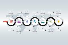 Layered Horizontal Infographic Timeline. Stock Images