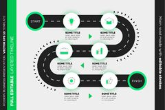 Layered Infographic Timeline. Vector Roadmap, Template For Modern Business Presentation, Annual Reports, Layouts.  royalty free illustration