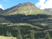 Layered Landscape. Mountain, forest and meadow in the Colorado Rockies royalty free stock image