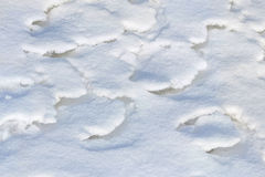 Layered melted snow Royalty Free Stock Images