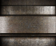 Layered metal background Stock Photos