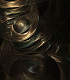 Layered Metallic Abstract Royalty Free Stock Image