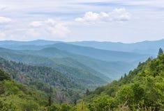 Layered mountain range. Royalty Free Stock Photos