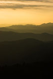 Layered mountainview at sunset Royalty Free Stock Photography