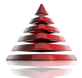 Layered pyramid. Pyramid created of layered elements. 3d Royalty Free Stock Photography