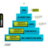 Layered pyramid chart diagram in flat style. Useful for presentations and advertising Stock Photography