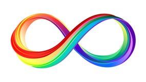 Layered Rainbow Infinity Symbol On White Background Royalty Free Stock Photos