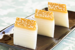 Layered Rice Cakes Royalty Free Stock Photography