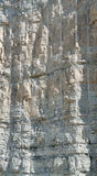 Layered rock face Stock Images