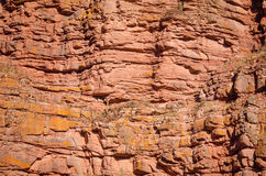 Layered rock face Stock Photography