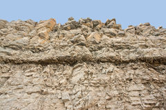 Layered rock face Stock Photo