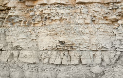 Layered rock face Royalty Free Stock Photography