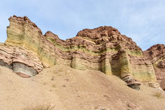 Layered rock formations in the Quebrada de las Conchas, Argentin Stock Photography