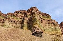 Layered rock formations in the Quebrada de las Conchas, Argentin Royalty Free Stock Photos