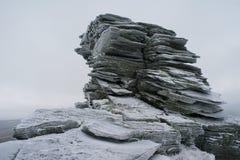 Layered rock Royalty Free Stock Image