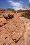 Layered Rock at King's Canyon Royalty Free Stock Image