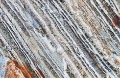 Layered Rock in the Wallow Mountains, NE Oregon, USA Stock Photo