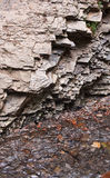 The layered rocks Royalty Free Stock Image