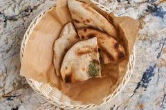 Layered rye tortilla bread Royalty Free Stock Image
