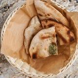 Layered rye tortilla bread Royalty Free Stock Photography