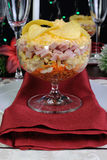 Layered salad in a glass Royalty Free Stock Image