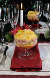 Layered salad in a glass Royalty Free Stock Photography