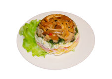 Layered salad Royalty Free Stock Image