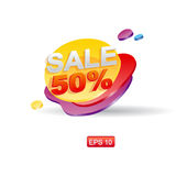 Layered Sale stiker for shops Royalty Free Stock Photo