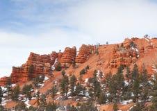 Layered Sandstone Ridge Stock Photography