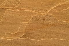Layered sandstone texture. Royalty Free Stock Photography