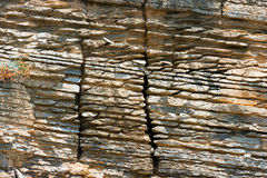 Layered Sedimentary Rock - Liguria Italy Royalty Free Stock Image