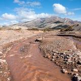 Colorful valley of the Rio Grande, Mendoza, Argentina royalty free stock photos