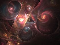Layered Spirals Fractal Stock Photo