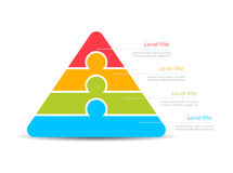 Free Layered Stacked Vector Pyramid Template Royalty Free Stock Photo - 82794755