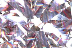Layered texture triangular diamond or crystal shapes background. 3d rendering model stock photos