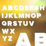 Layered Transparent Simple Alphabet  Royalty Free Stock Images