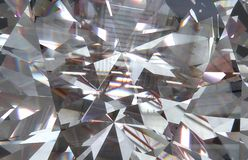 Layered triangular macro diamond shapes with a small diamond over them. 3d vector illustration