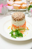 Layered vegetable salad Royalty Free Stock Photography