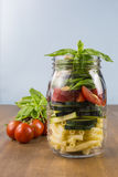 Layered vegetable salad Stock Images