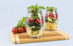 Layered vegetable salad Royalty Free Stock Images