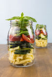 Layered vegetable salad Stock Photo