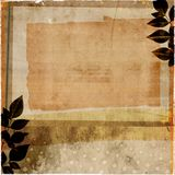 Layered vintage papers Royalty Free Stock Image